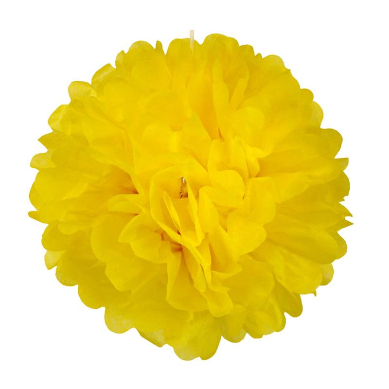 Yellow pom pom flower ball 3 sizes rainbox party supplies yellow pom pom flower ball mightylinksfo