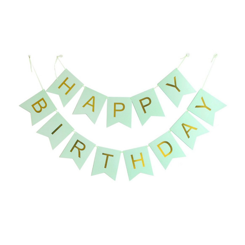 happy birthday banner  u2013 mint green  u2013 rainbox  u2013 party supplies